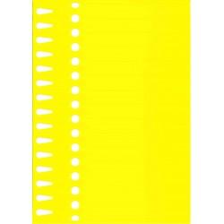 Etiquettes à boucle jaune...