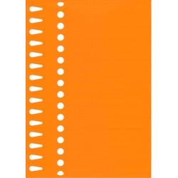 Etiquettes à boucle orange...