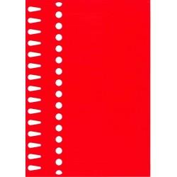 Etiquettes à boucle rouge...