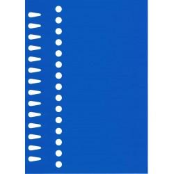 Etiquettes à boucle bleu 14...